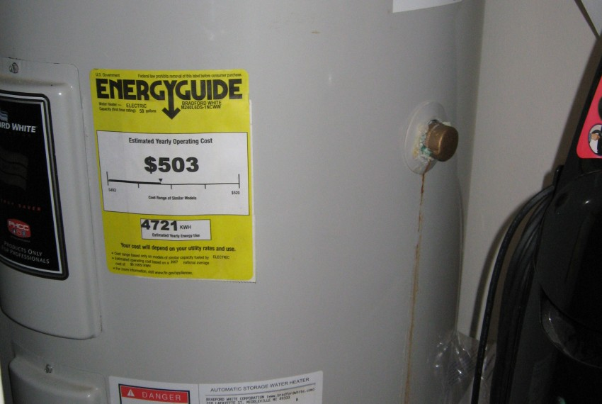 422 AP water heater in clo